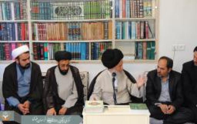 دیدار مدیران و کارشناسان مرکز ملی با آیت الله علوی گرگانی و آیت الله گرامی